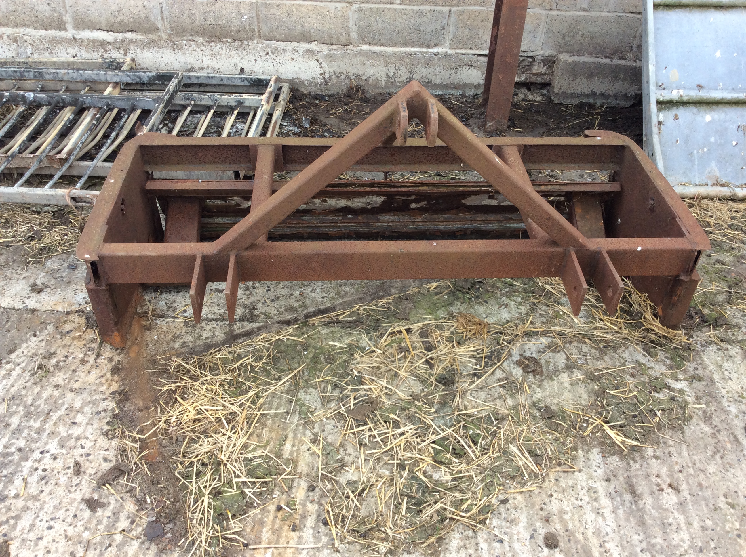 Lot 10 - Muck scraper Stored near Waxham