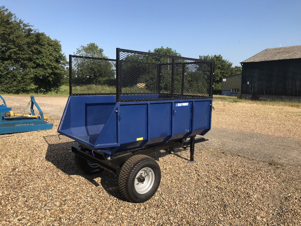 Lot 41 - 1 1/2T Dump tipping trailer with fixed sides and extensions Stored near Woodbridge