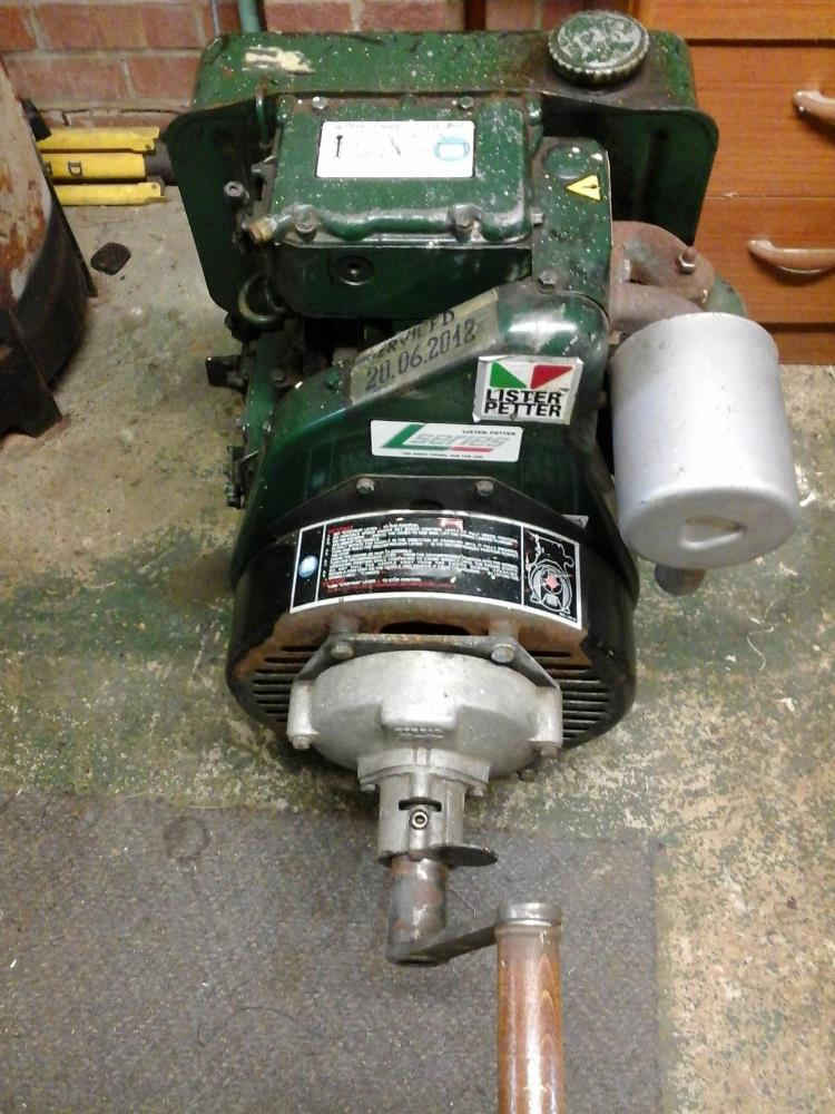 Lot 38 - Lister Petter L series engine, good runner with little use. Stored near Belton.