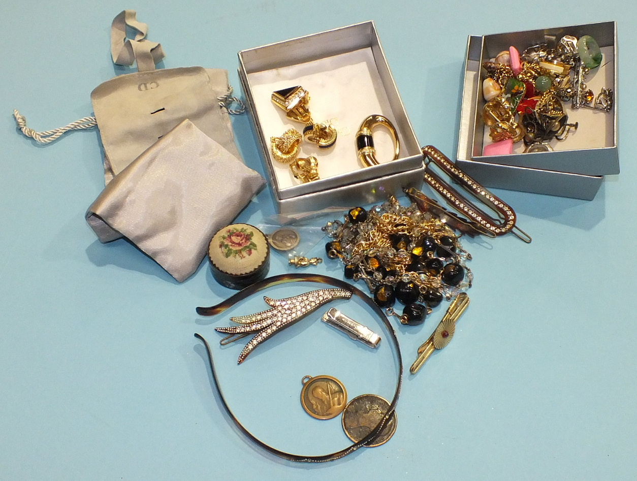 Lot 237 - A quantity of costume jewellery, including some by Christian Dior and Burberry.