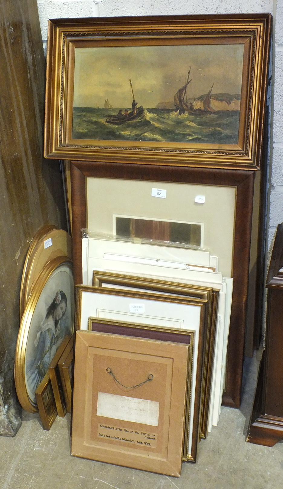Lot 52 - A collection of various framed and unframed prints.