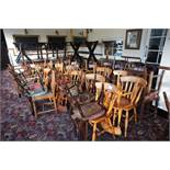 14 x Various Tables, 50 x Various Chairs