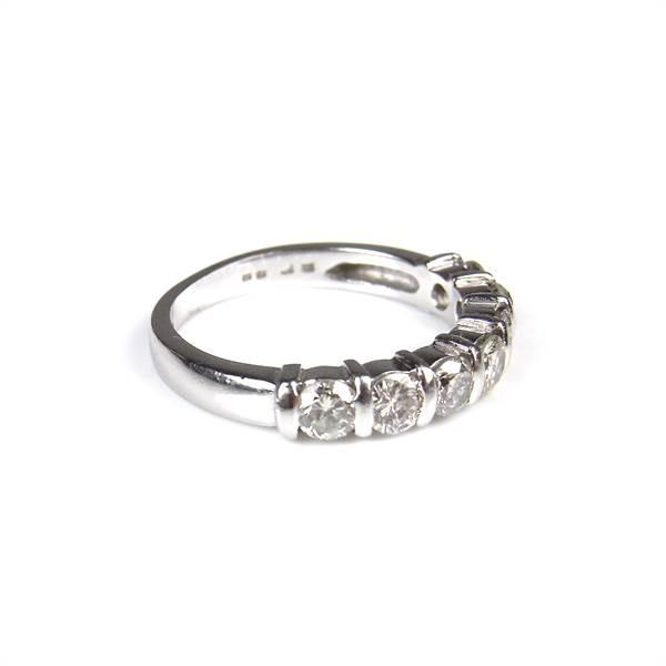 Platinum diamond half eternity ring. - Image 2