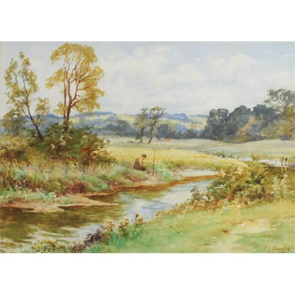 Knowles, Frederick James 1874-1931 British Fishing. - Image 1