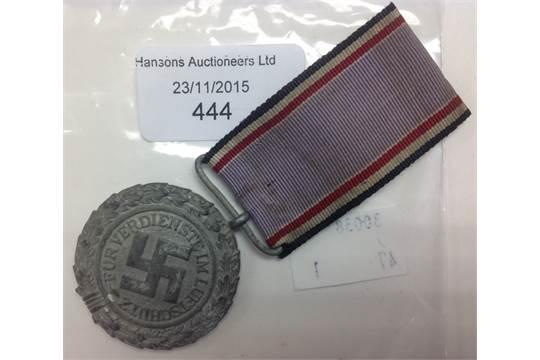 WW2 German Luftschutz Medal 2nd class 1938 with ribbon