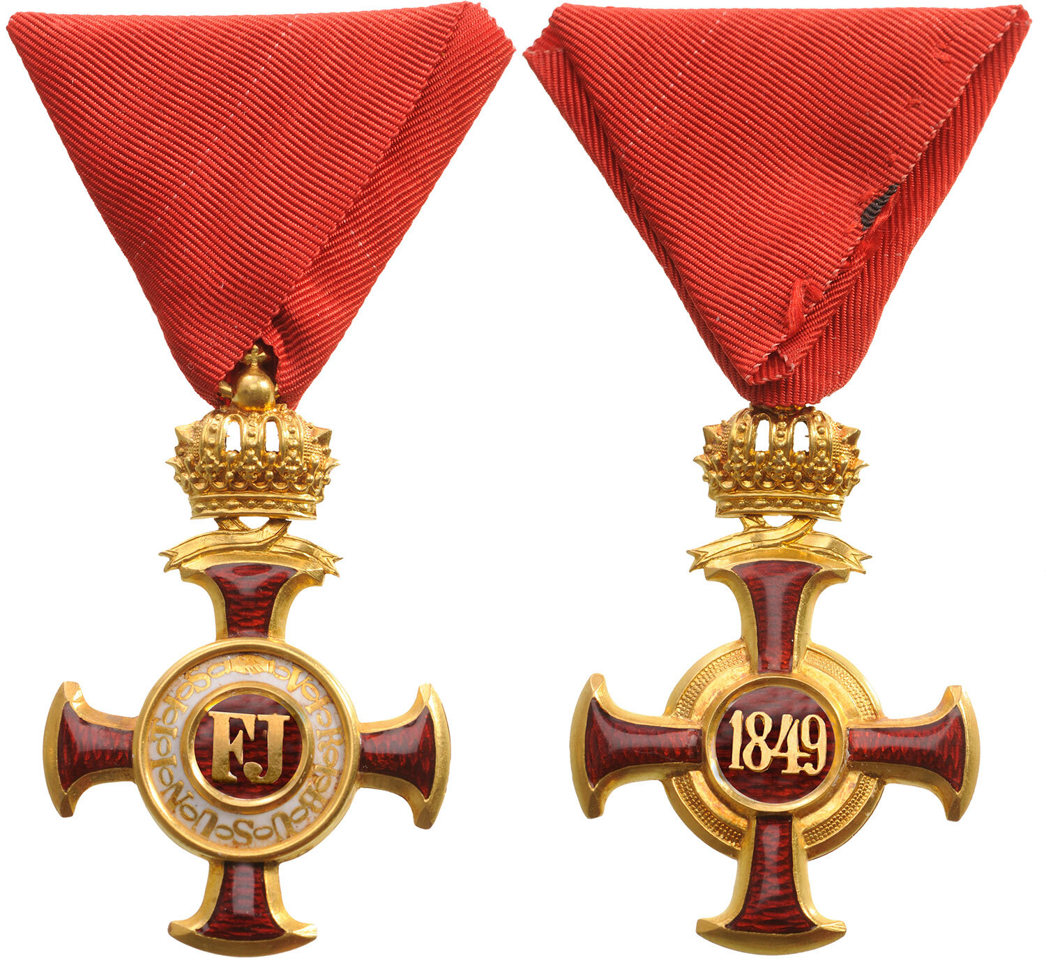Lot 1365 - DECORATION OF MERIT IN GOLD, 1st Class