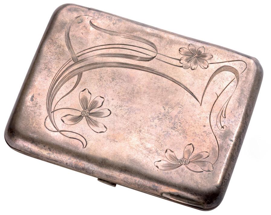 Lot 3595 - Silver cigarette case