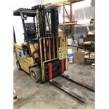 "Hyster 40 model E40XL-27 3000-lb Electric Forklift with 42"" long forks, with Hi-Tech Mark II model"