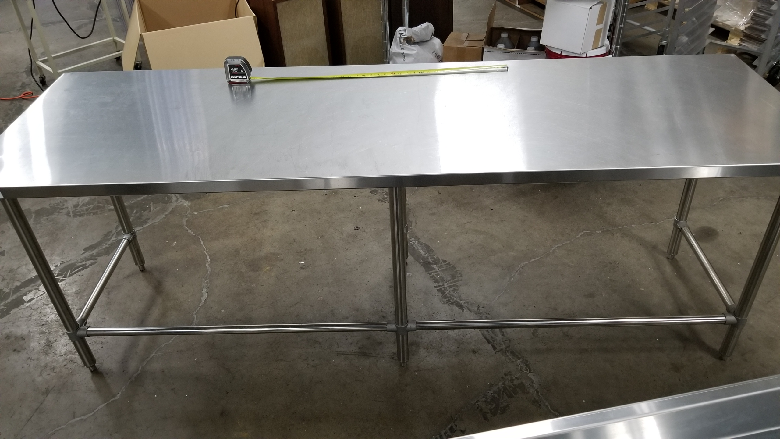 """Lot 62 - 30"""" x 96"""" stainless steel table"""