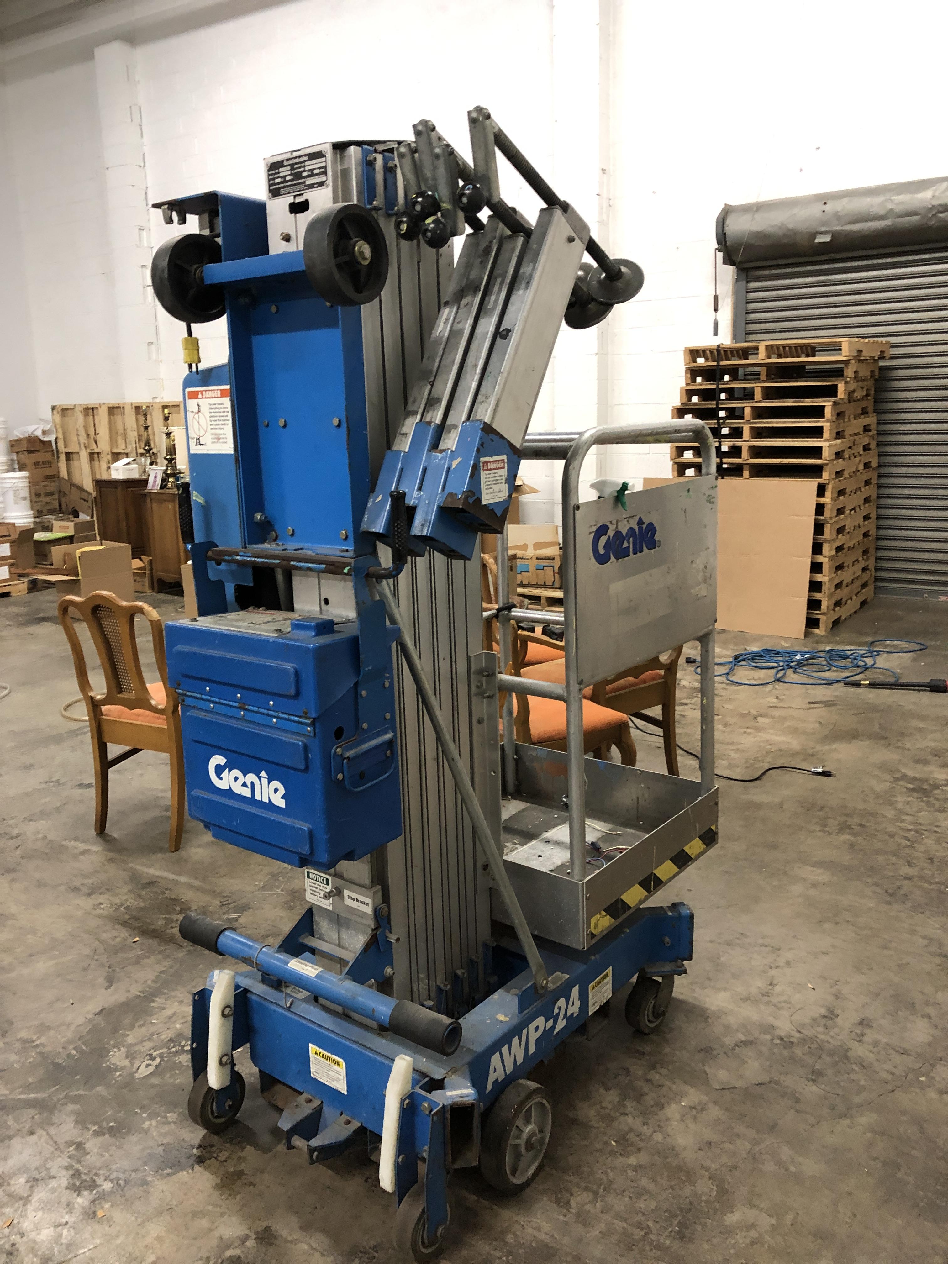 Lot 50 - Genie model AWP-24 Lift max load 350 lbs. Serial#3895-10513