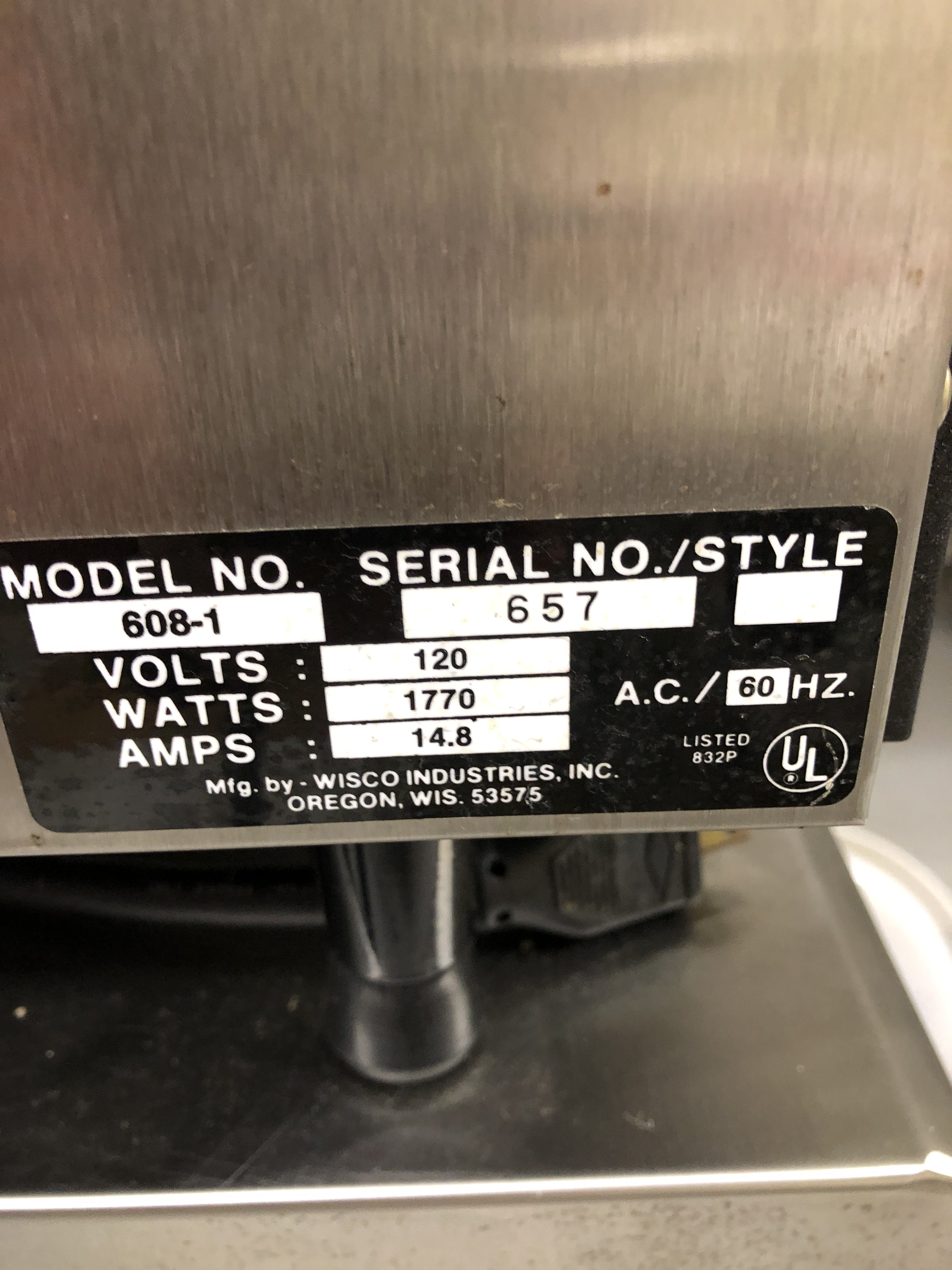 Lot 55 - Wisco model 608-1 Super Convection Oven