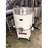 "Smith 250-lb water jacketed and agitated Chocolate Melter. 22"" diameter x 18"" deep tank."