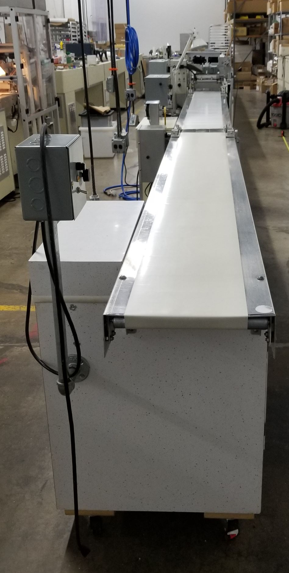 "Hilliard 10"" Enrobing Line with 8-ft long feed conveyor, Pre-Bottomer, 8-ft long cold plate with - Image 2 of 5"