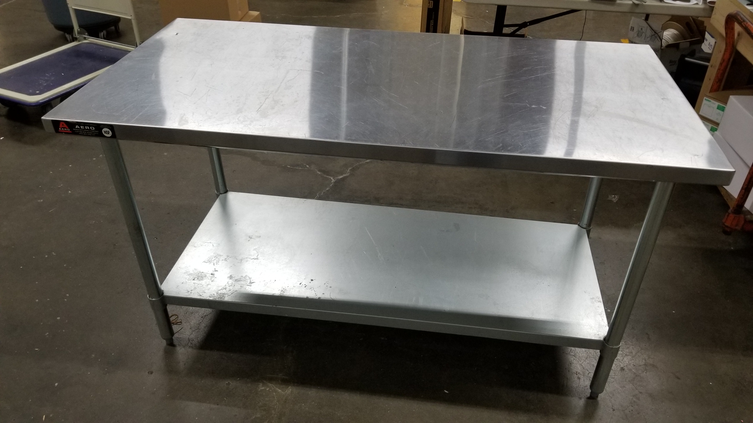 "Lot 61 - 30"" x 60"" stainless steel table"
