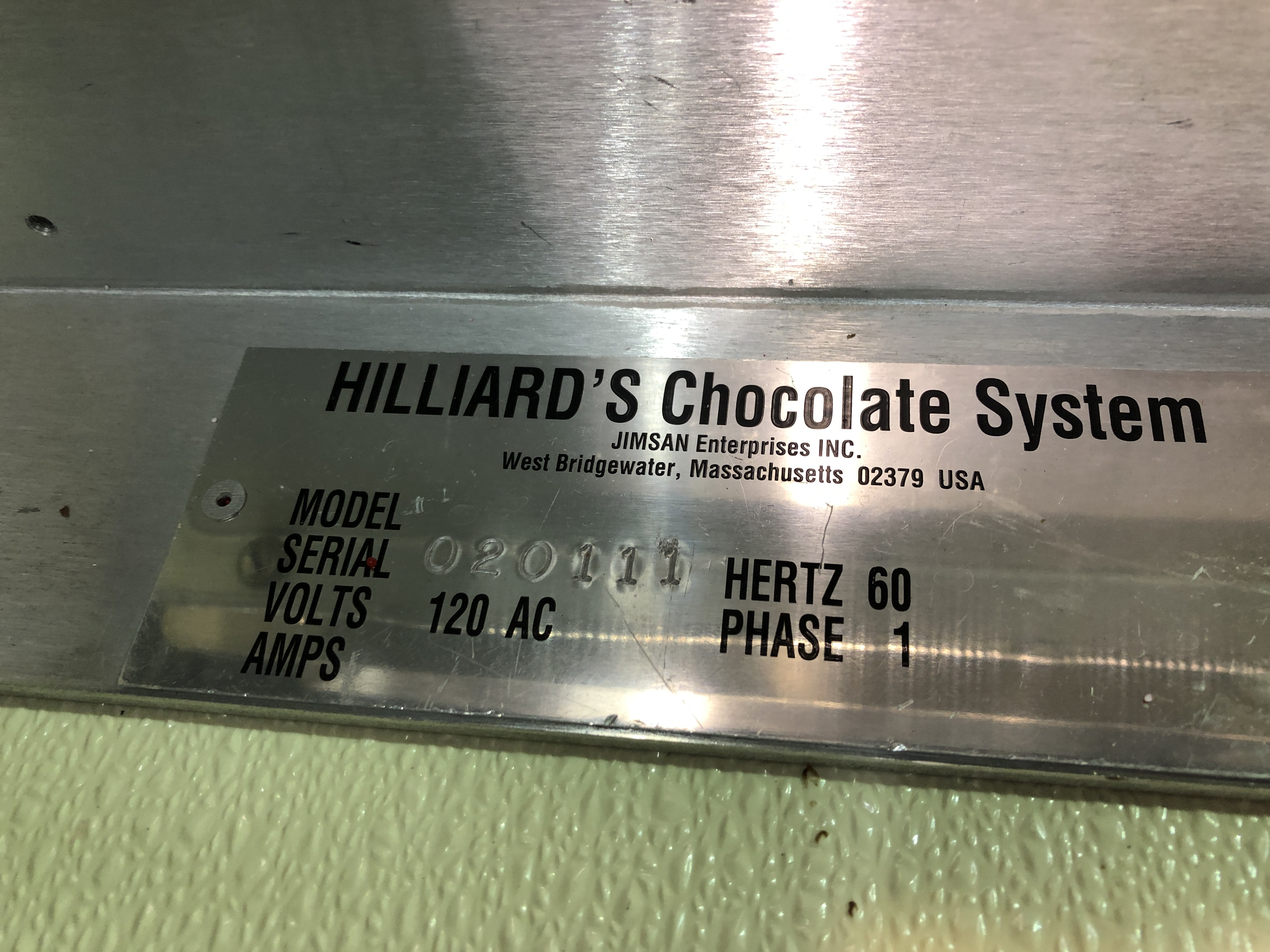 """Lot 20 - Hilliard 10"""" Topping Machiner serial#020111"""