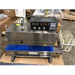 Apollo model CBS-910C1 Bag Sealer with Ink Printer and Conveyor