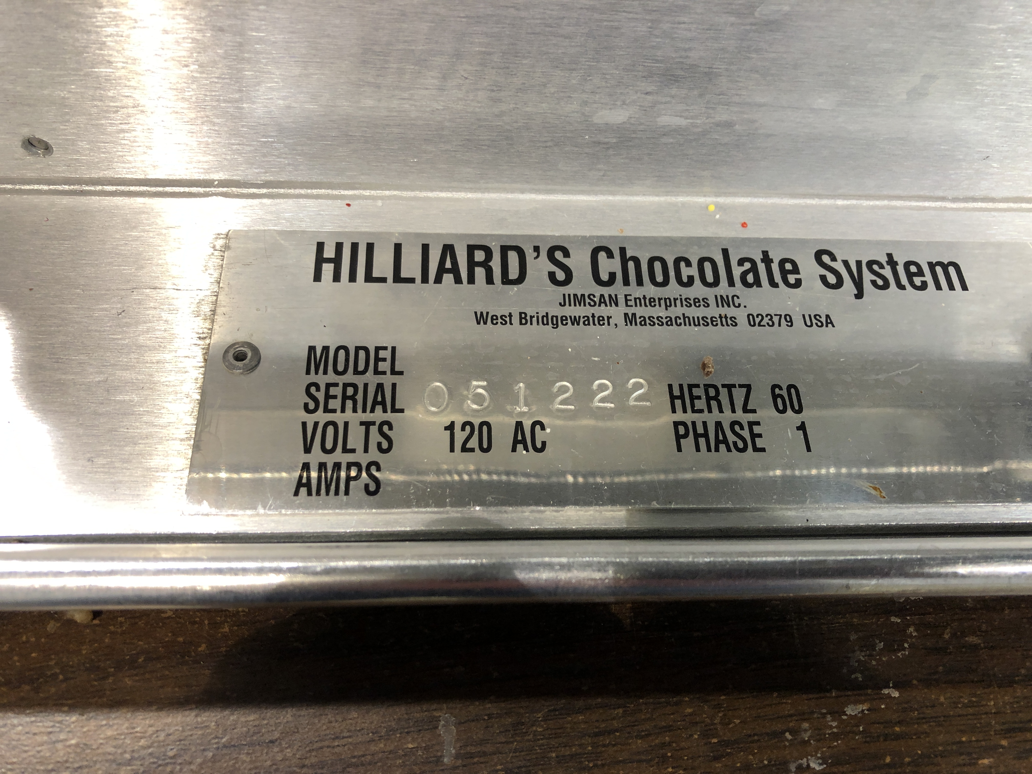 "Lot 23 - Hilliard 16"" Topping Device. Serial#051222. 120 volts."