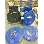 (4) reels for strapping bander