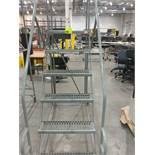6 step rolling platform ladder