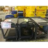(3) Rolling plastic carts