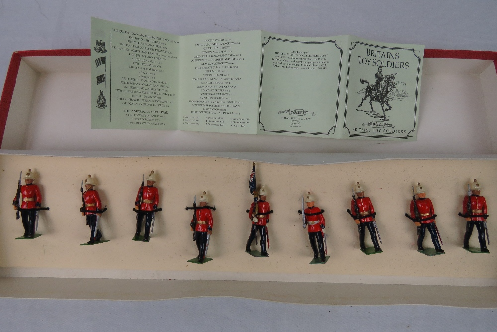 A boxed set of Britains hand painted lea