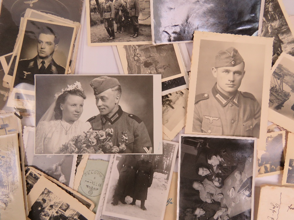 A large quantity of WWII German photos a - Image 4 of 4