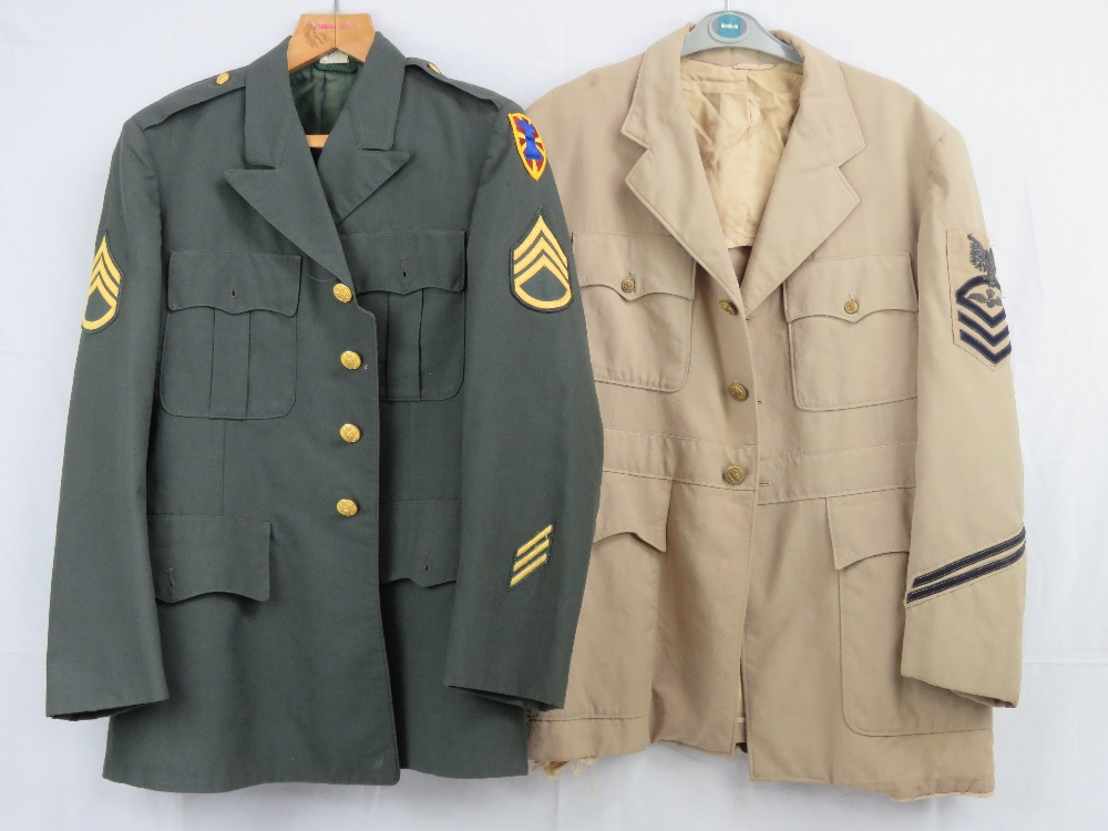 Lot 111 - Two US Military Tunics; one green with p