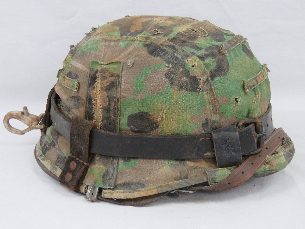 A WWII German M35 Infantry helmet with D
