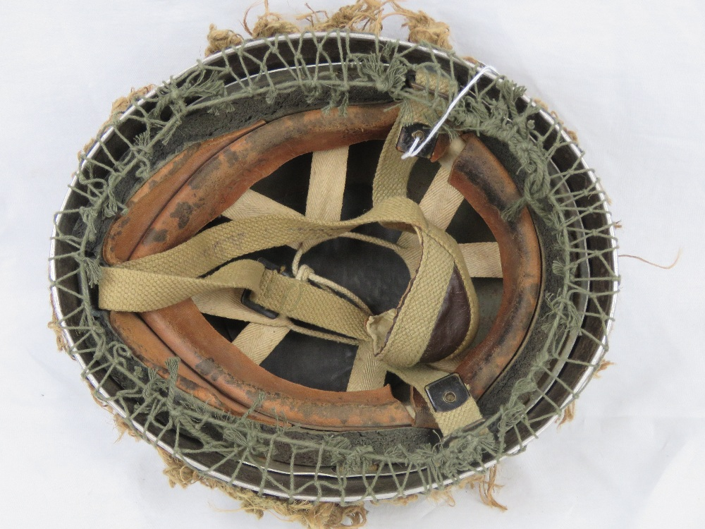 A British Paratroopers helmet with scrim - Image 3 of 4