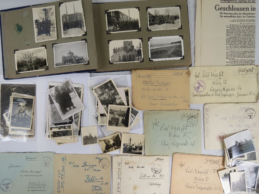 A large quantity of WWII German photos a