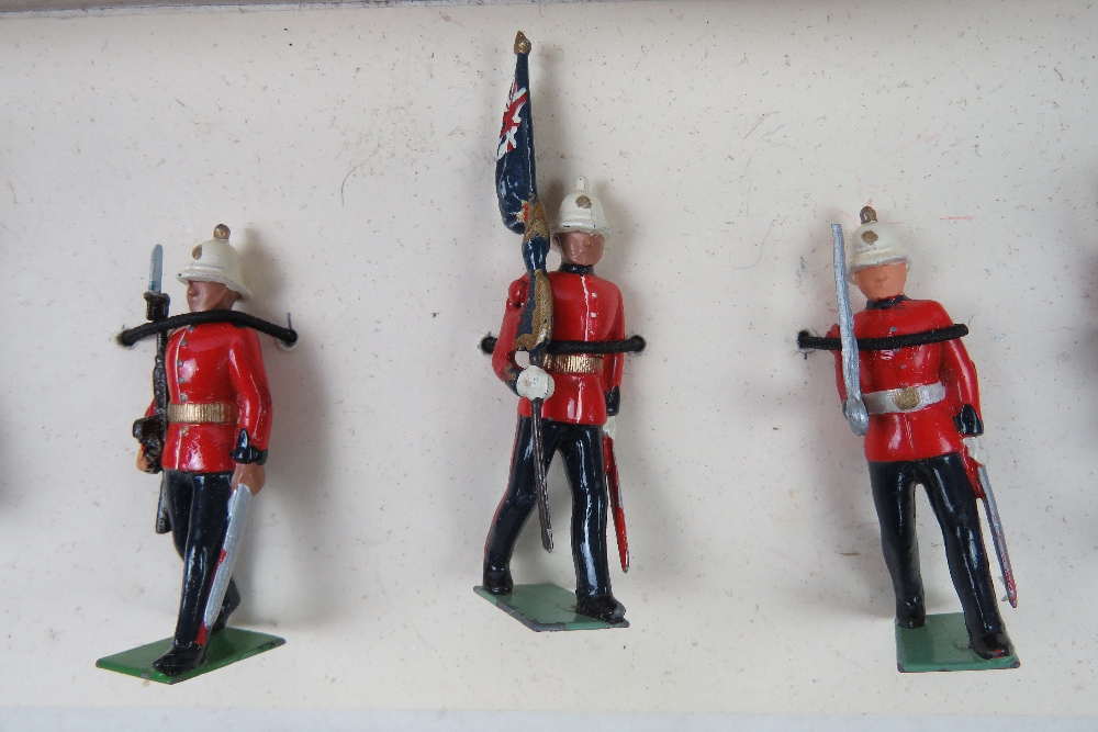 A boxed set of Britains hand painted lea - Image 2 of 2