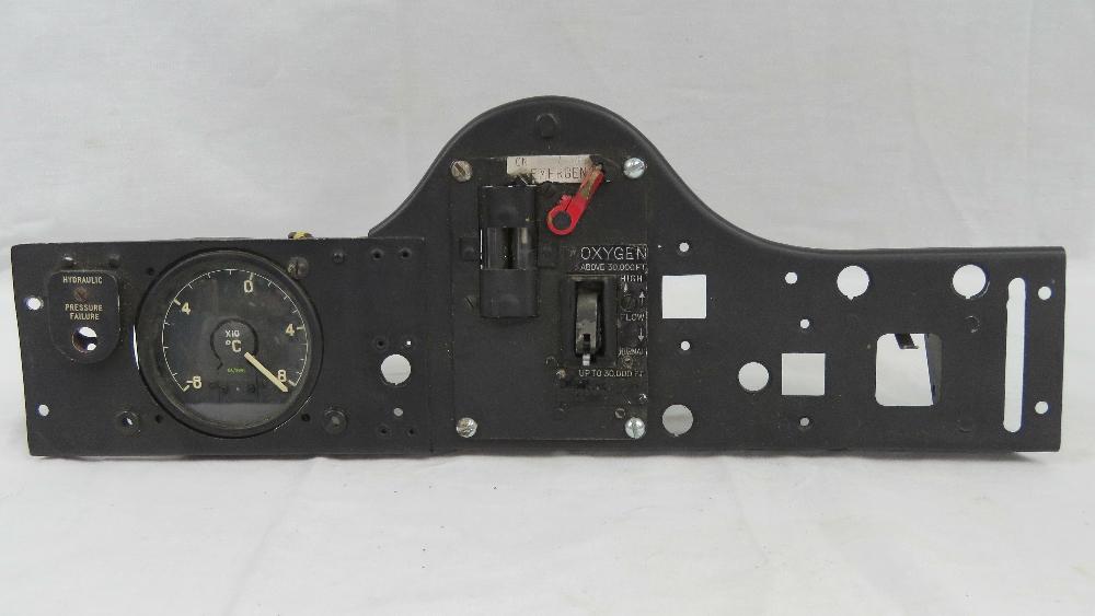 A Royal Air Force cockpit oxygen control