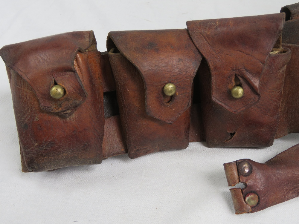 Lot 62 - A rare British / Canadian WWI brown lea