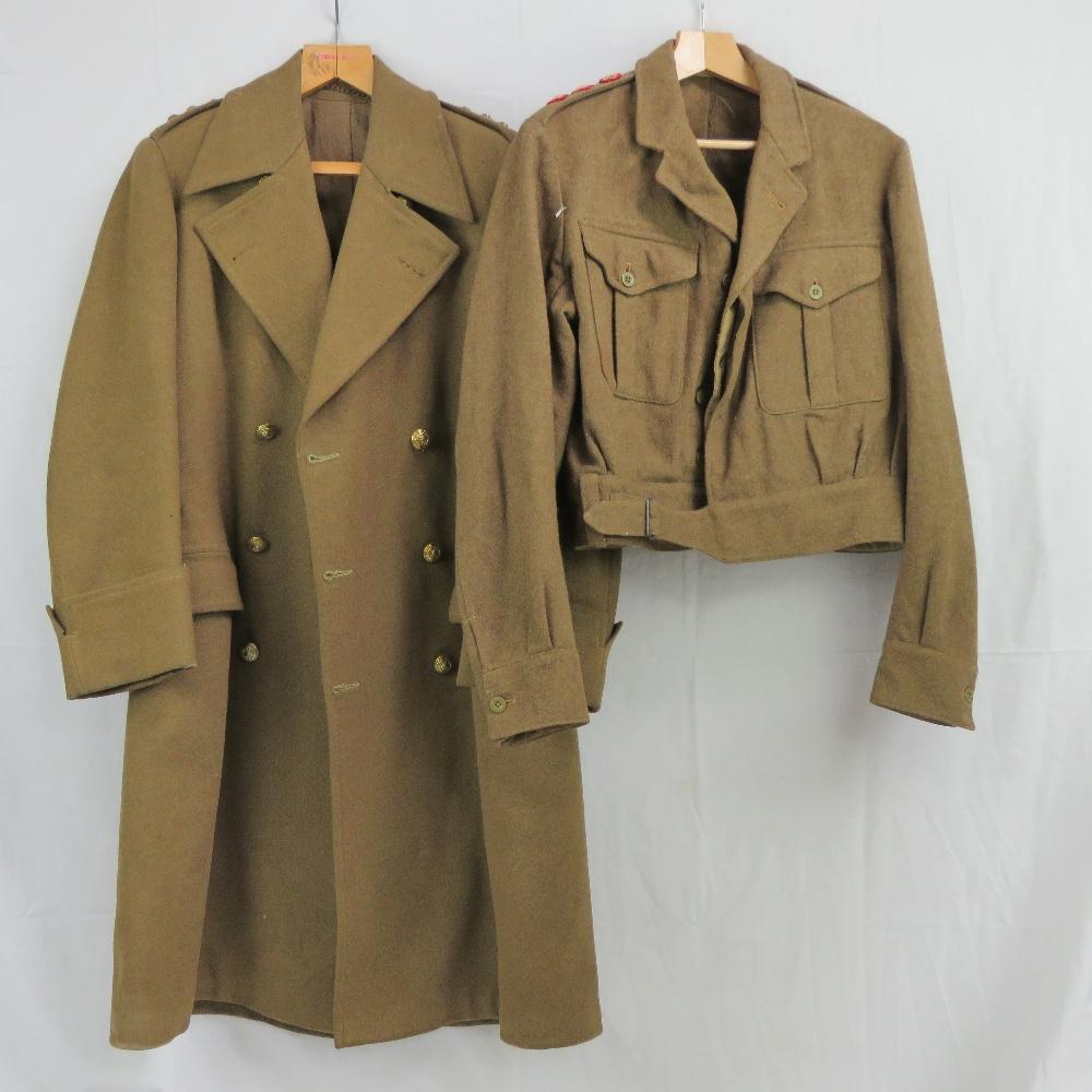 A WWII Royal Marine Sergeants overcoat a