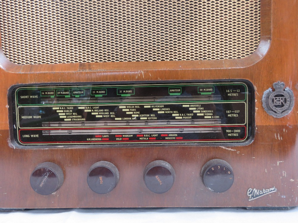 Lot 40 - A Royal Engineers Officers Mess radio by
