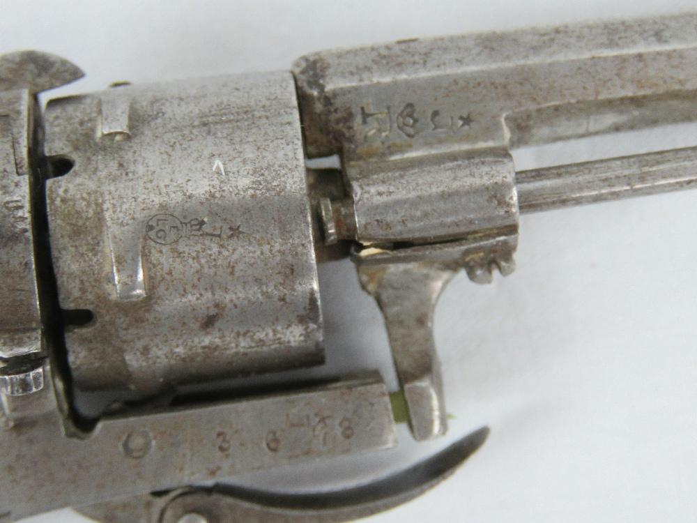 Lot 5 - A miniature novelty Belgian pin fire poc