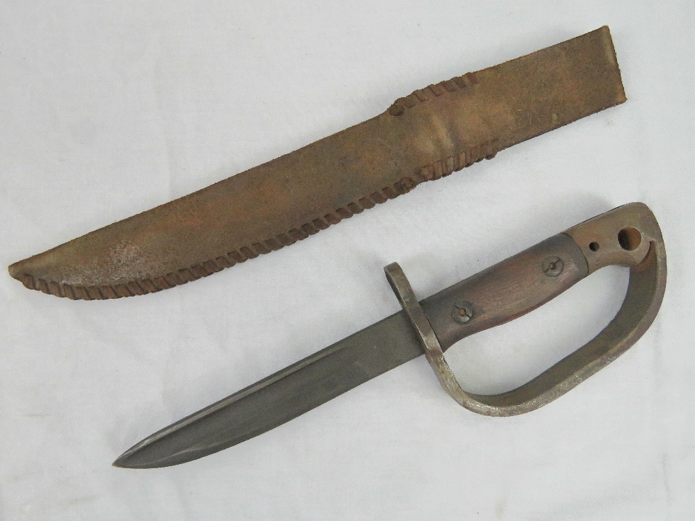 A WWII British improvised fighting knife - Image 2 of 3