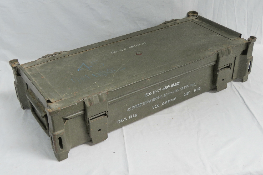 Two large ammunition crates; a British M - Image 4 of 5