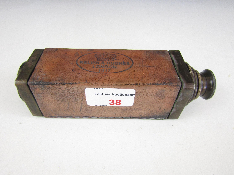 Lot 38 - A reproduction three draw brass telescope