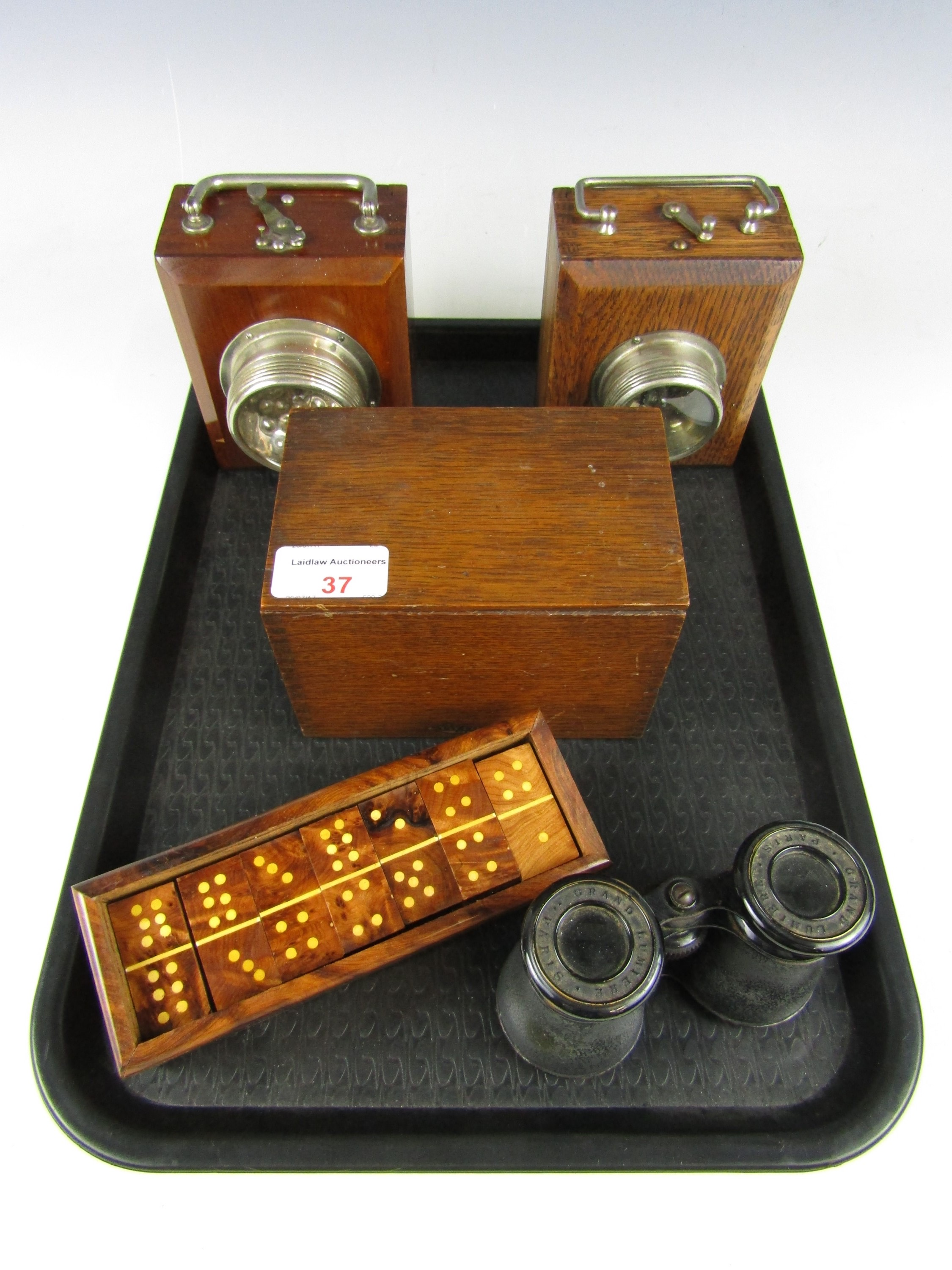 Lot 37 - Sundry collectibles including two vintage Ever Ready wooden hand lamps, an Advance Systems oak