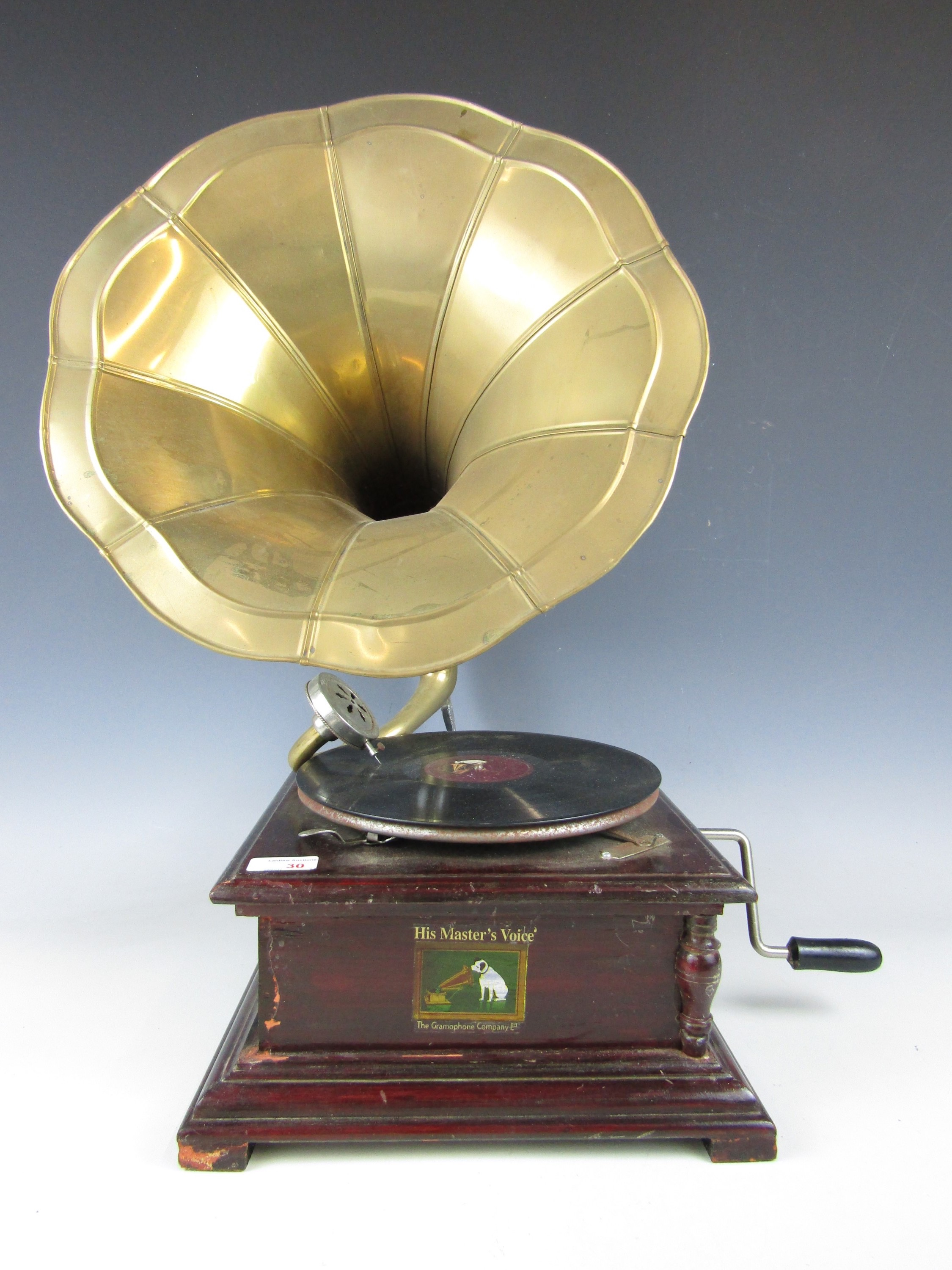 Lot 30 - A reproduction gramophone