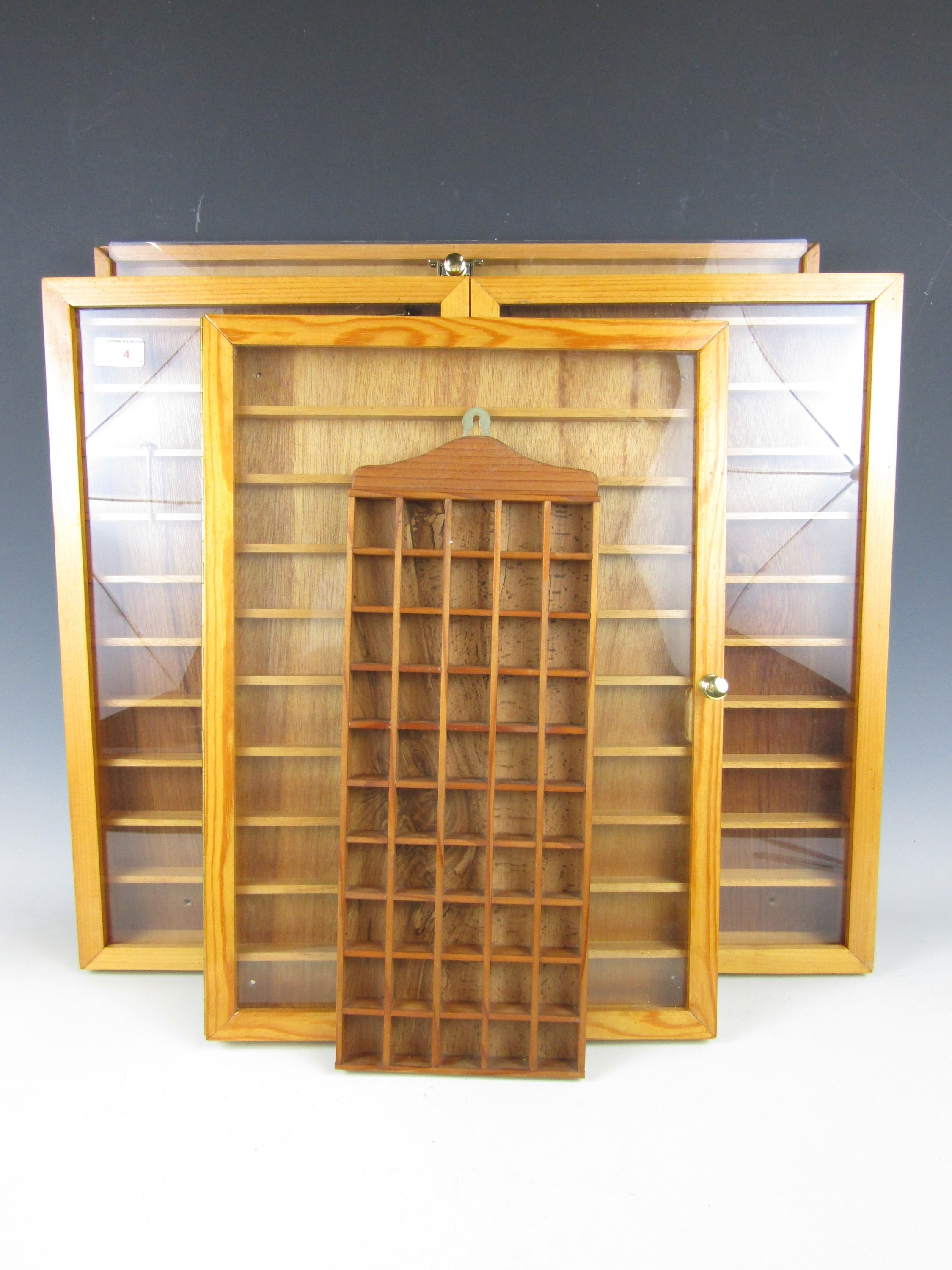 Lot 4 - Four thimble display cases