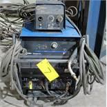 MILLER DELTAWELD 452 WELDER, S/N MD230051C W/ MILLER 22A WIRE FEEDER, CABLES & CART