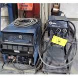 MILLER DELTAWELD 452 WELDER, S/N MB0806174 W/ MILLER 22A WIRE FEEDER, CABLES & CART