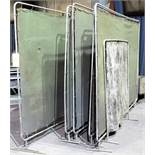LOT OF (7) WELDING SCREENS AND (5) WELDING CURTAINS