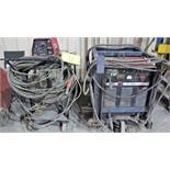 LINCOLN ELECTRIC CV-400 WELDER, S/N 311684 W/ LINCOLN ELECTRIC L7-72 WIRE FEEDER, CABLES & CARTS