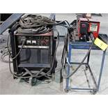 LINCOLN ELECTRIC CV-400 WELDER, S/N C1000200282 W/ LINCOLN ELECTRIC LN-9 GMA WIRE FEEDER, CABLES &