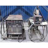 LINCOLN ELECTRIC IDEALARC CV-400 WELDER, S/N 310580 W/ LINCOLN ELECTRIC LN-7 WIRE FEEDER, CABLES &