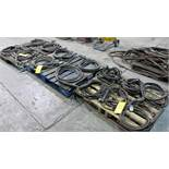 LOT OF (3) PALLETS OF MIG/TIG WELDING GUNS W/ CABLES