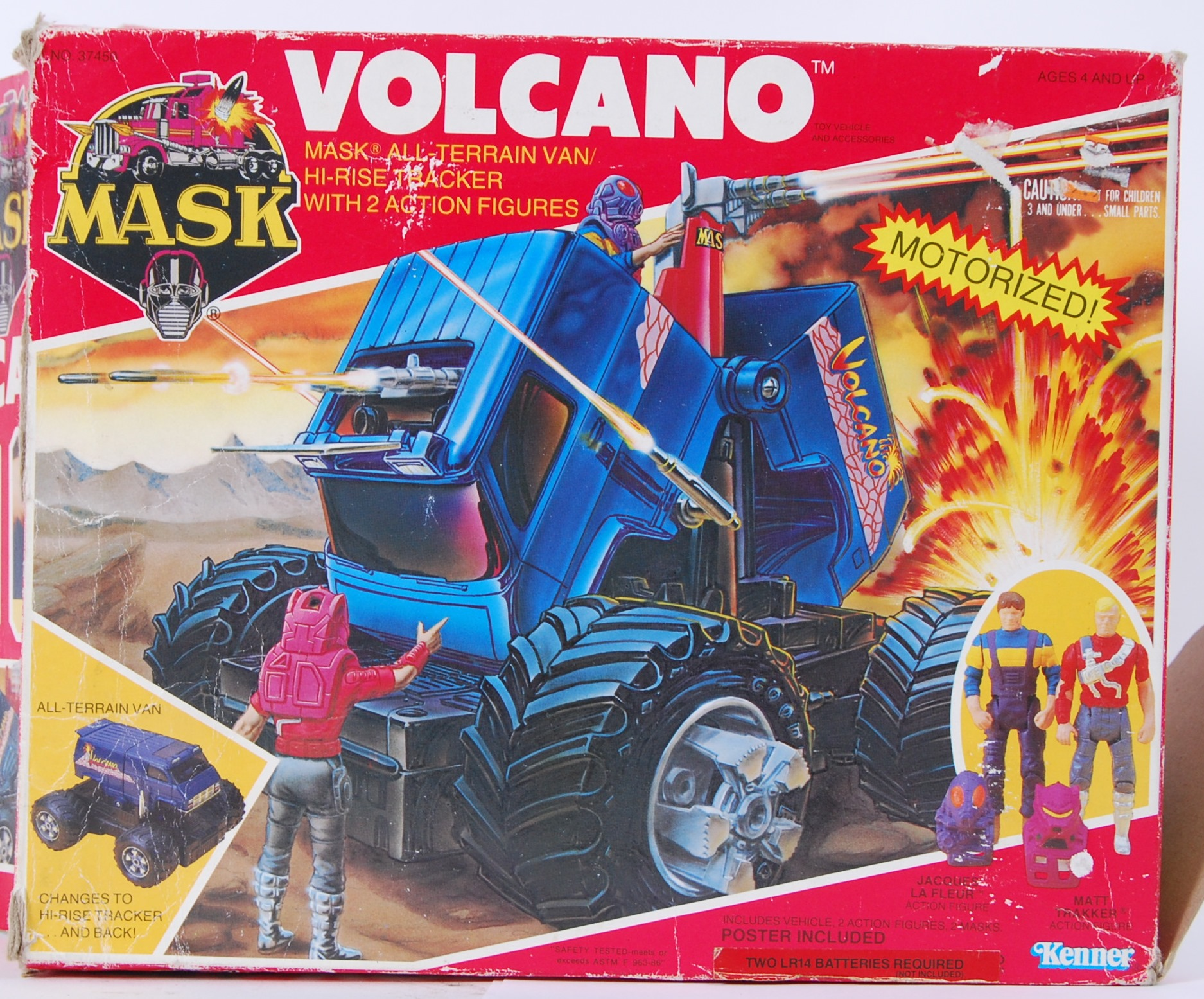 MASK A 1980 s Kenner made MASK Volcano vehicle Within the